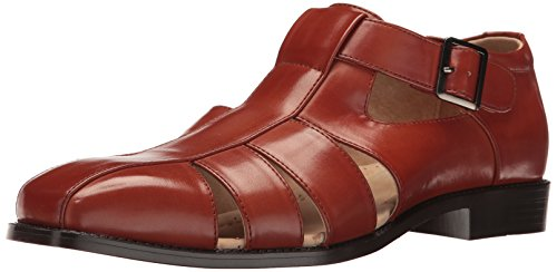 STACY ADAMS Men's Calisto-Fisherman Sandal, Cognac, 13 M US