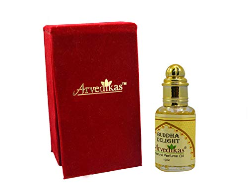 Arvedikas - Alcohol Free Perfume Oil Fragrance Blends Well Essential Long Lasting for Men and Women (Unisex) Glass Roll on Bottle with Golden Cap Attar/Ittar 10ml (Buddha Delight) ()