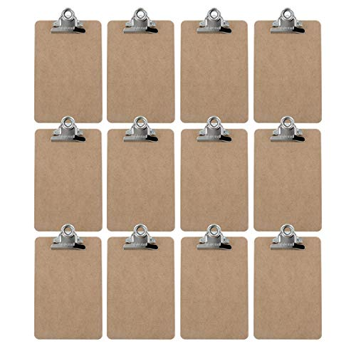 Advantage Hard Board Clipboard with High Capacity Clip, Memo Size 6 x 9 (Pack of 12), Earth Friendly and Made in the USA