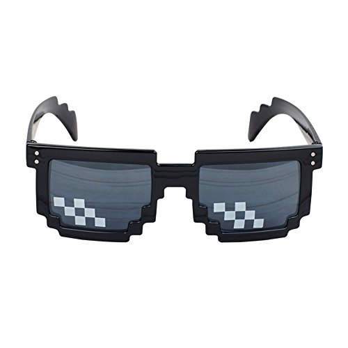 Deal With It Glasses Thug Life Sunglasses Pixelated Shades Funny - Mall Sunglasses Deals