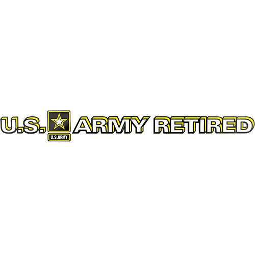 (U.S. Army Star Logo Retired Clear Window Strip)
