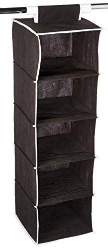 ATH Hanging Clothes Vertical Storage Box (5 Shelving Units) Durable  Accessory Shelves   Easy