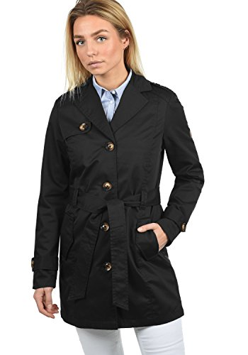 Coat Tessa Con Revers Transitorio Trench Black Cintura Da 9000 Desires Giacca Collo nbsp; Donna wt6p4qA