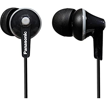 Panasonic RP-HJE120-PPK In-Ear Stereo Earphones, Black