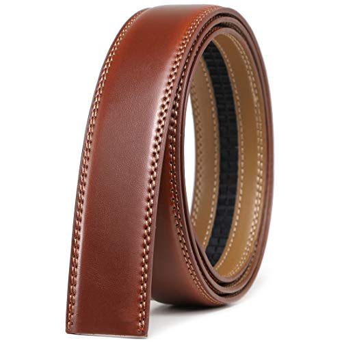 Mens Leather Ratchet Belt Strap Only 1 3/8