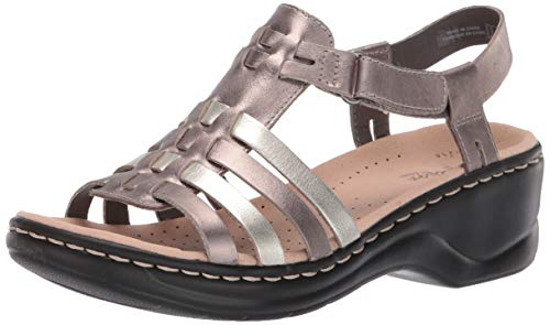 Comfort Dress Sandals - CLARKS Women's Lexi Bridge Sandal Metallic/Multi Leather 090 M US