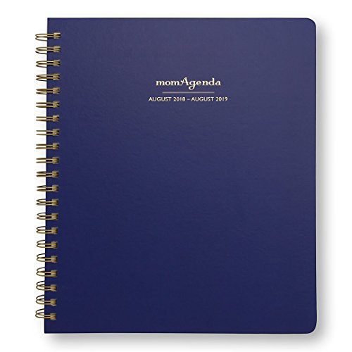 momAgenda Home Office Edition Day Planner (August 2018 - August 2019). Organize Your Busy Life with This Spiral-Bound, Large Planner and Convenient Week-at-A-View Layout. (Navy) by momAgenda