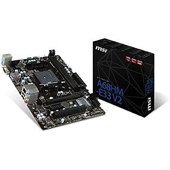 MSI AMD FM2+ A68H DDR3 SATA 6Gb/s USB 3.0 HDMI Micro ATX  Motherboard (A68HM-E33 V2)