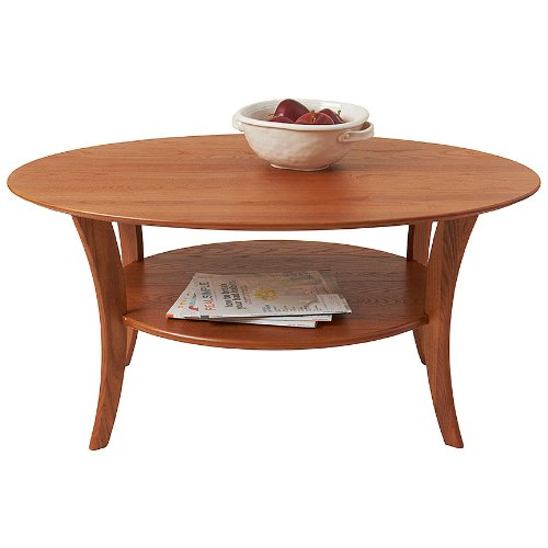 Manchester Wood Oval Coffee Table - Golden - Coffee Oval Oak Table
