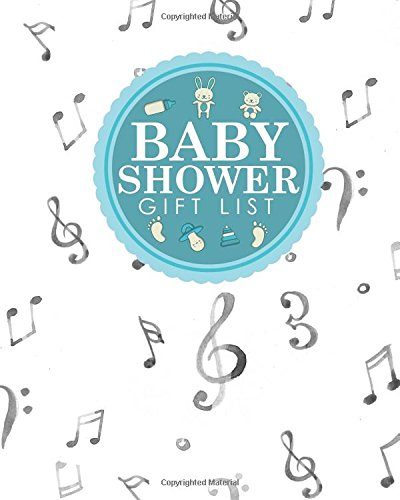 Baby Shower Gift List: Baby Shower Gift Book, Gift Lists Registry, Gift Log For Baby Shower, Gift Recording Book, Recorder, Organizer, Keepsake, Music Lover Cover (Volume 1) pdf
