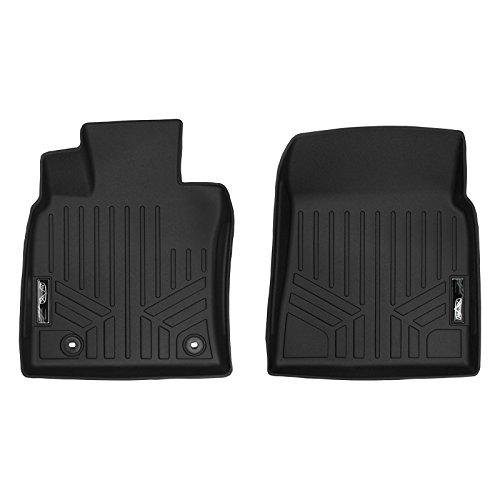 (SMARTLINER Floor Mats 1st Row Liner Set Black for 2018 Toyota Camry Standard or Hybrid Models)