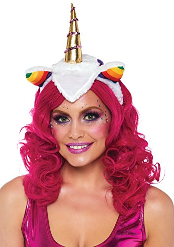 Leg Avenue Women's Rainbow Unicorn Headband, Multi O/S