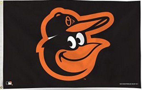MLB Baltimore Orioles 3-Foot by 5-Foot Banner Flag Baltimore Orioles Mlb Wall