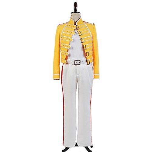 CosplayDiy Men's Costume Suit for Queen Lead Vocals Freddie Mercury Cosplay XS ()