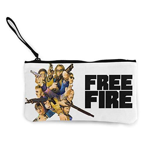 PBQX Free Fire Team Personality Canvas Change Coin Purse Mini Wallet Women Girls Small Bag