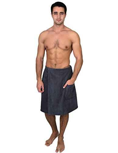 TowelSelections Men's Wrap, Shower & Bath Terry Towel with Snaps Small/Large Castlerock
