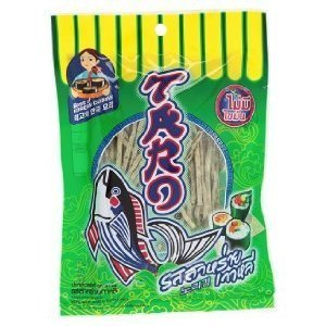 Price comparison product image Taro Korean Seaweed Flavoured Fish Snack 32g. Product of Thailand. Set 10 Pices.