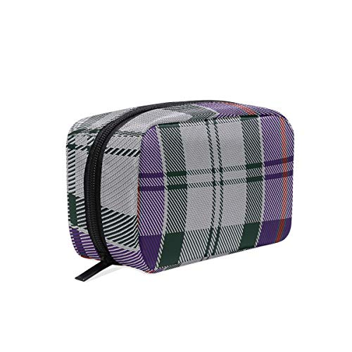 - Cosmetic Bag Portable and Suitable for Travel Culloden Dress Ancient District Tartan Make Up bag with Zipper Pencil Bag Pouch Wallet