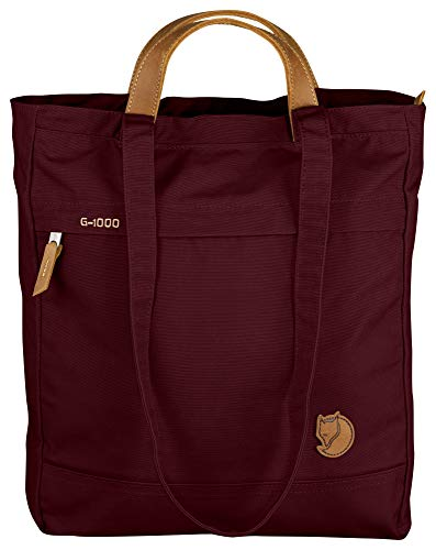 Fjallraven Totepack No.1 Unisex Medium Garnet Waxed Fabric Tote Bag 24203356 from Fjallraven