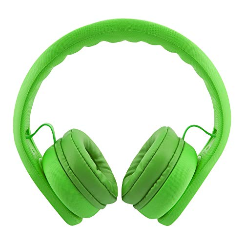 K900 Durable Wired On-Ear Green Kids Headphones Toddler Headphones with Microphone and Sharing Port Volume Limiting Girls Headphones for Kids Safe Soft Durable Boys Child Children Headphones Kids