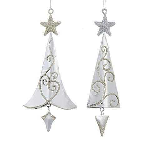 Club Pack of 24 Silver and Gold Glittered Christmas Tree...