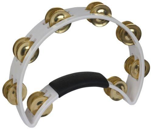 Rhythm Tech Tambourine (RhythmTech RT1021 Tambourine, Brass Jingles, White)