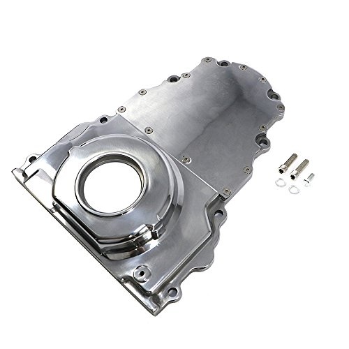 Assault Racing Products A6009POL GM LS Polished 2 Piece Aluminum Timing Chain Cover ()