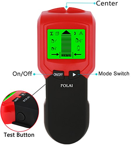 Stud Finder,Stud Metal AC Wire WoodScanner Wall Stud Finder Electronic StudSensor FOLAI