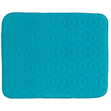 Kay Dee Designs A8981 Necessities Microfiber Countertop Drying Mat, Turquoise