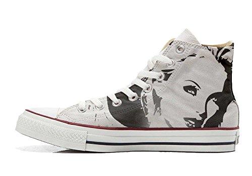 Coutume Imprimés Unisex produit Italien Hi Shoes Converse Your Artisanal Personnalisé Chaussures Et All Star Make Sneaker Blondie 7vf0wxqwO