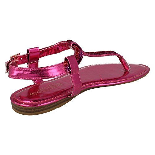 Spot Ladies rosa Sandals F0615 Fucsia Style On 8OqdOg