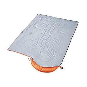 oaskys Camping Sleeping Bag - 3 Season Warm & Cool Weather - Summer, Spring, Fall, Lightweight, Waterproof for Adults & Kids - Camping Gear Equipment, Traveling, and Outdoors (Orange, 7530inch)