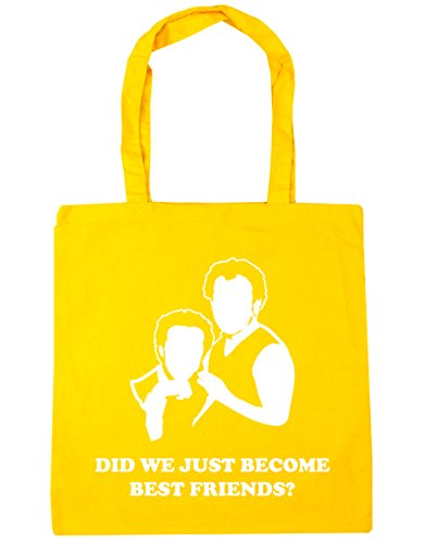 42cm HippoWarehouse x38cm quote 10 Become litres Did Yellow We movie Shopping Gym Tote Bag Just Best Friends Beach O4fOrnF