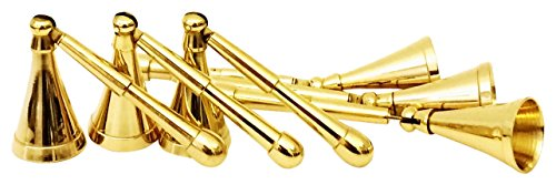 Biedermann & Sons Solid Brass Snuffers (Box of 6) , Mini by Biedermann & Sons
