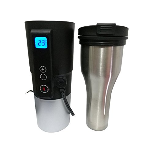 Puncia 12v Electric Smart Mug Stainless Steel Cup Car Temp