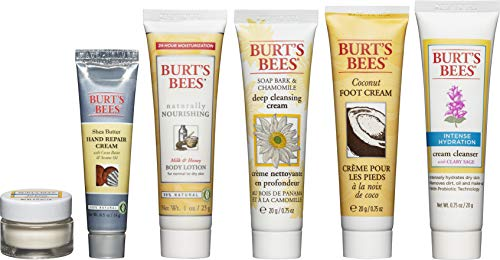 Burt's Bees Fabulous Minis Travel Set, 6 Travel Size Products - Cream Cleanser, Day Lotion, Deep Cleansing Cream, Body Lotion, Foot Cream and Hand Repair Cream from Burt's Bees