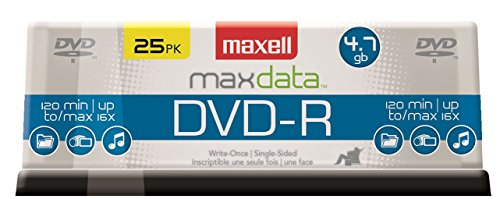 Maxell 638010 Dvd-R 4.7 Gb Spindle by Maxell