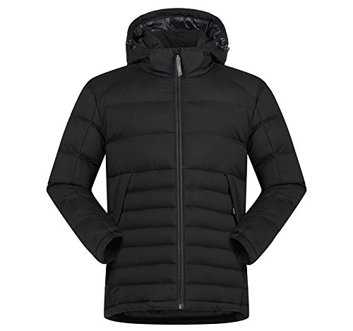 Men's Padded Hooded Stand Puffer Collar Coat Jacket Lsm Outwear Black Coat Quilted Winter q5CwxfT