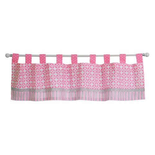 Trend Lab Lily Window Valance, Pink (Dot Valance Circle)