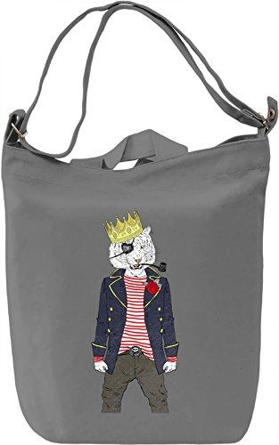 Hipster tiger Borsa Giornaliera Canvas Canvas Day Bag  100% Premium Cotton Canvas  DTG Printing 