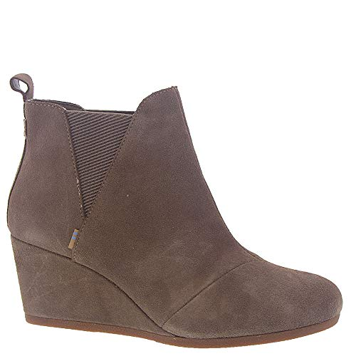 TOMS Taupe Gray Suede Women