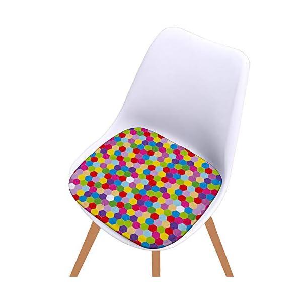 Bledyi, Cuscino Quadrato colorato per Sedia, per Interni ed Esterni, per Soggiorno, Patio, Ufficio, 40 x 40 cm 5 spesavip