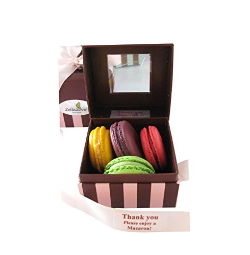 LeilaLove Macarons - 4 Macarons the top 4 flavors - Box may vary in colors