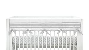 Just Born Crib Rail Guard Cover, Classic Grey