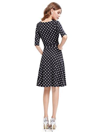Ever-Pretty HE03632MQ06 - Vestido para mujer White Polka dots