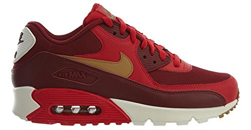 EU Nike Leather Mens 41 Gold Air 90 Trainers Red Max Essential qfCqwvT
