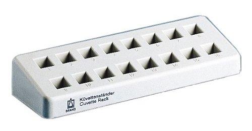 BrandTech 759500 Polypropylene 16 Cuvettes Rack