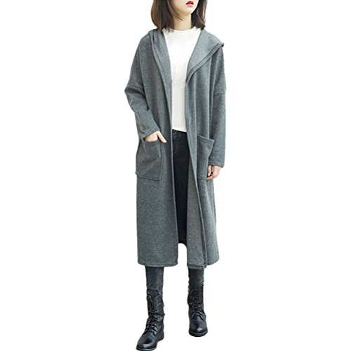 Zhhlinyuan 4 Colors High Quality Cotton 良質の Long Cardigan Solid Winter 柔らかい Coat for Ladies Womens Girls