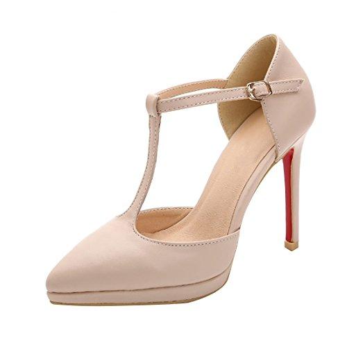Sandale Beige Escarpins Platform Boucle HooH T Stiletto Strap Femmes RZRqgxAB