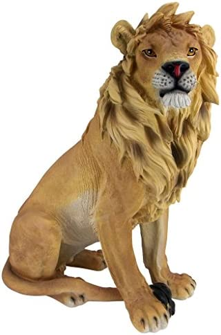 Design Toscano JE43201 King of Beasts Lion Outdoor Garden Statue